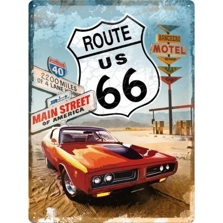 Peltikyltti 30x40 Route 66 Gas Up