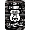 Peltikyltti 20x30 Route 66 The Original Adventure